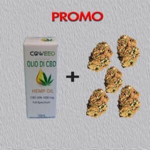promozione olio CBD 20% e infiorescenza cannatonic