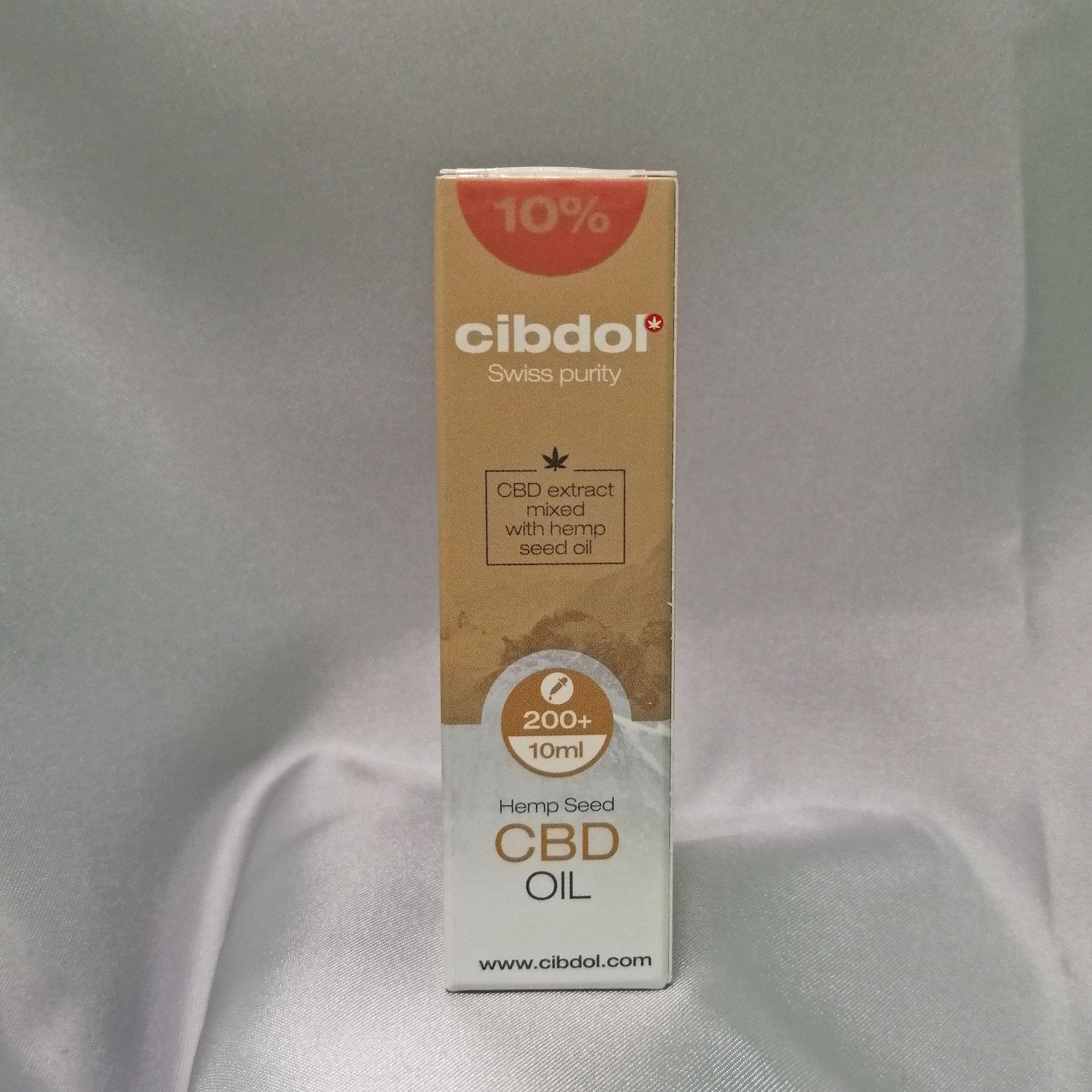 immagine di confezione olio al CBD 10% cibdol